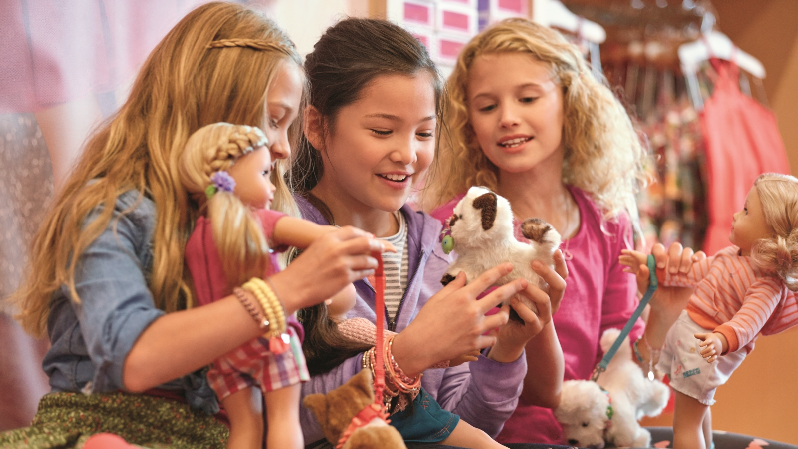 The American Girl Store has an exciting variety of dolls, clothes, games and gifts.