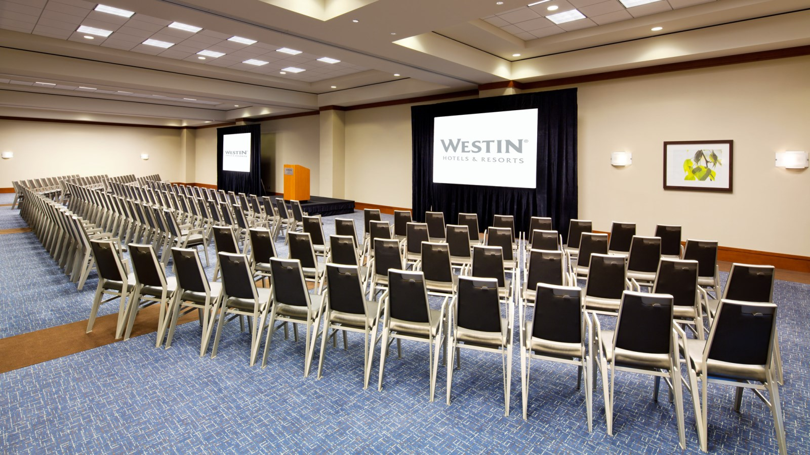 The Magnolia Ballroom is a spacious and professional venue for presentations and receptions.
